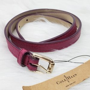 """Cole Haan """"Winery"""" Skinny Belt for waist"""
